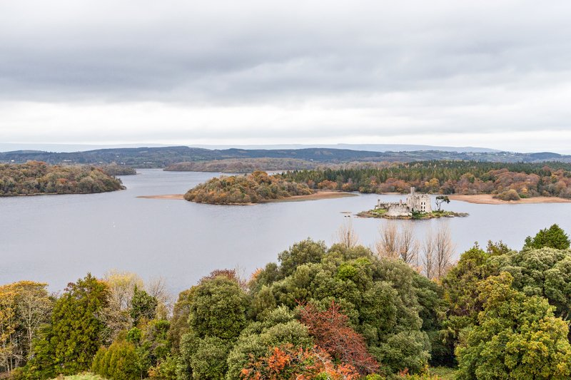 Autumn at Lough Key castles in Ireland