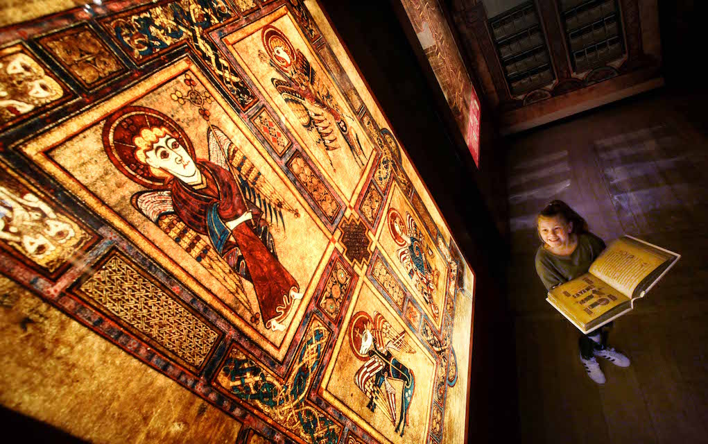 Book of Kells Mythical places to visit in Ireland