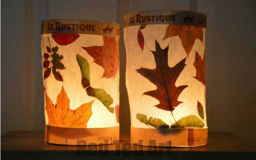 Leaf crafts - leaf lanterns