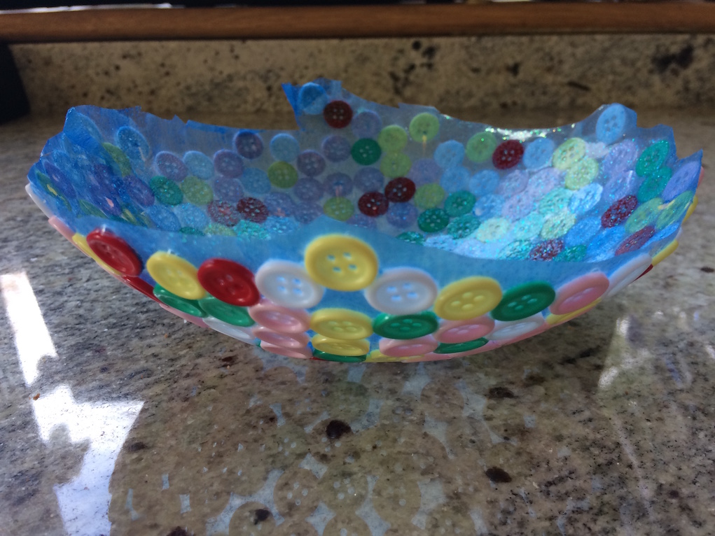 button bowl balloon craft ideas for kids