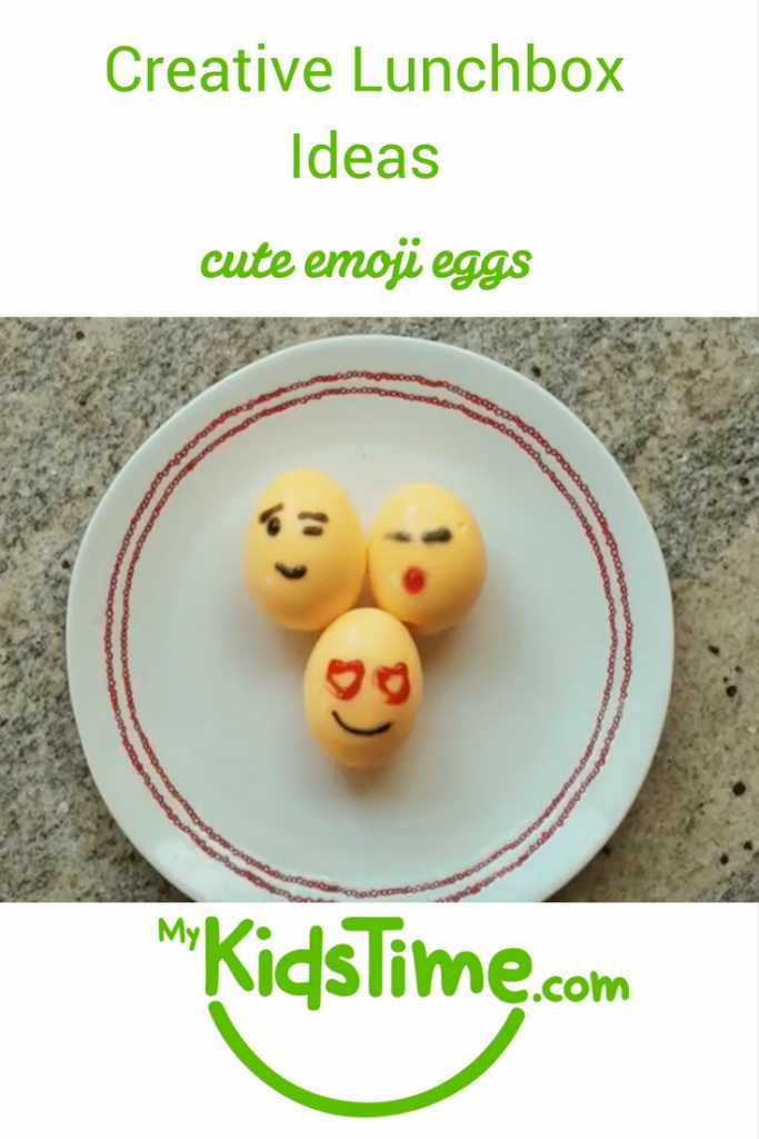 creative lunchbox ideas cute emoji eggs