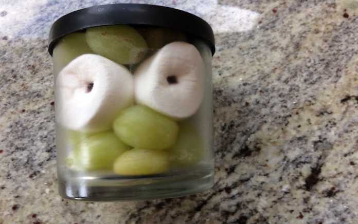 creative lunchbox ideas googly grape face in a jar