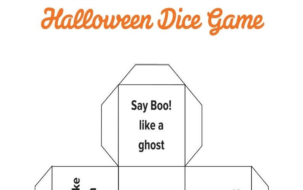 graphic regarding Printable Dice Games identified as No cost Halloween Printables Engage in the Halloween Cube Sport