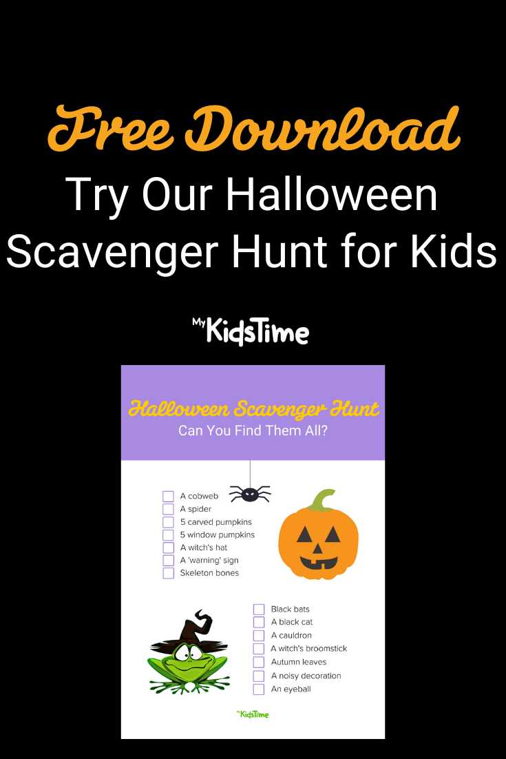 Have Some Spooky Fun With Our FREE Halloween Scavenger Hunt - Mykidstime