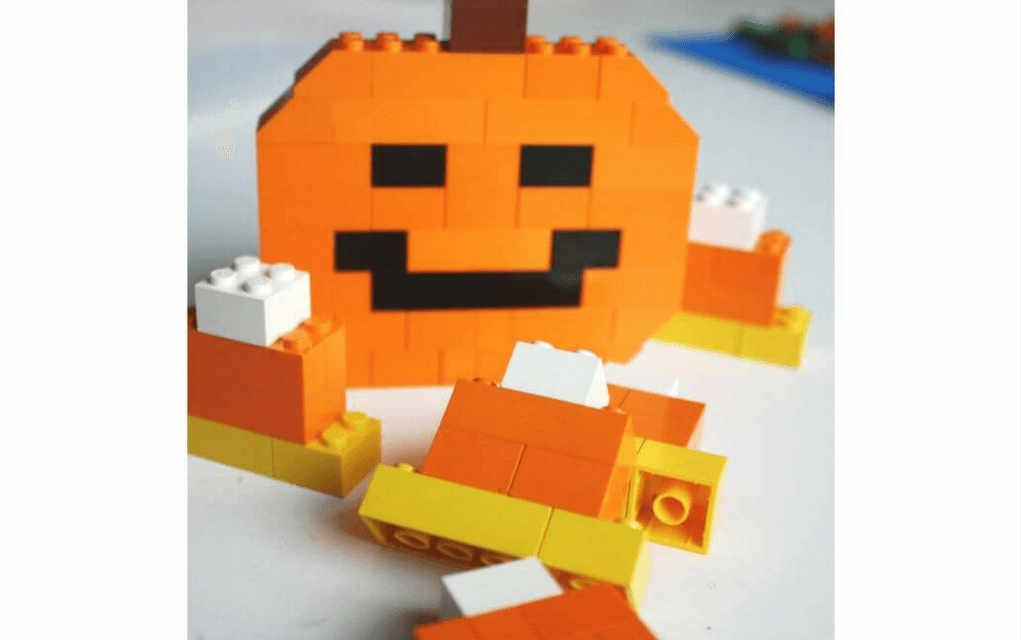 Lego halloween pumpkin and candy corn - Little Bins for Little Hands