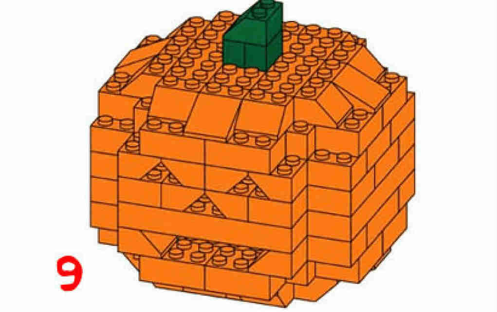 Lego halloween - pumpkin from gizmodo