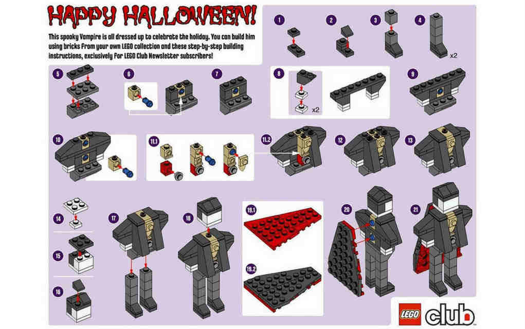 Vampire for Lego Halloween instructions