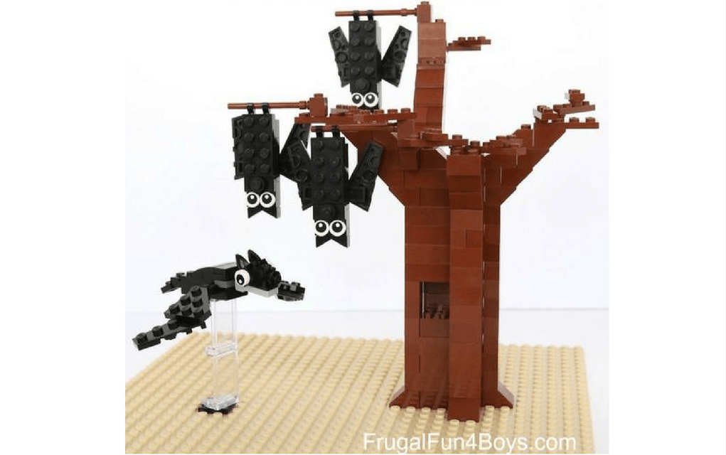 Lego halloween - bats from Frugalfun4boys