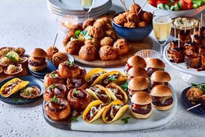 festive canapes and drinks ideas from M&S