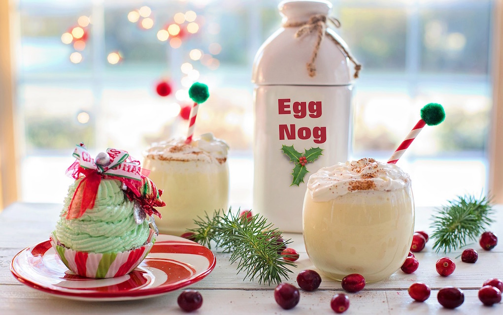 festive canape and drinks ideas for Christmas and New Year Egg Nog