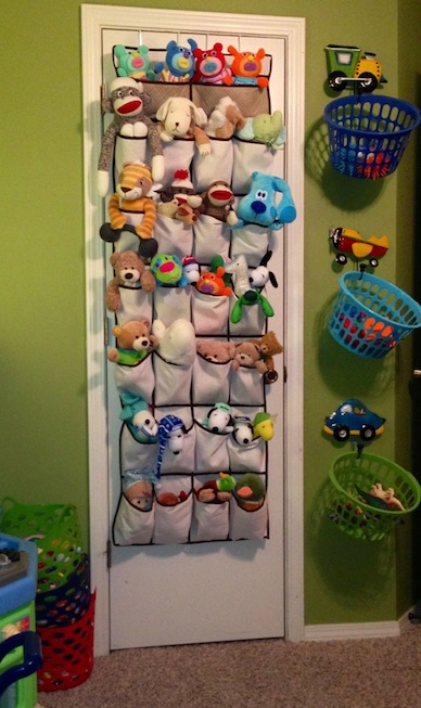 perfect playroom hanging storage solutions