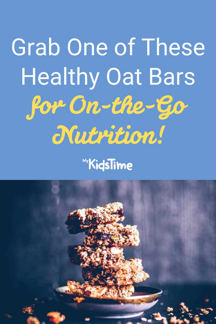 Grab One of These Healthy Oat Bars for On-the-Go Nutrition - Mykidstime