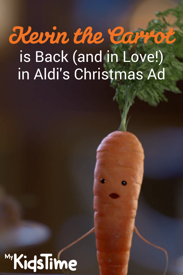 kevin the carrot is back and in love in the aldi. Black Bedroom Furniture Sets. Home Design Ideas