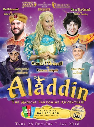 aladdin the magical panto adventure at the Lime Tree best pantos in Ireland