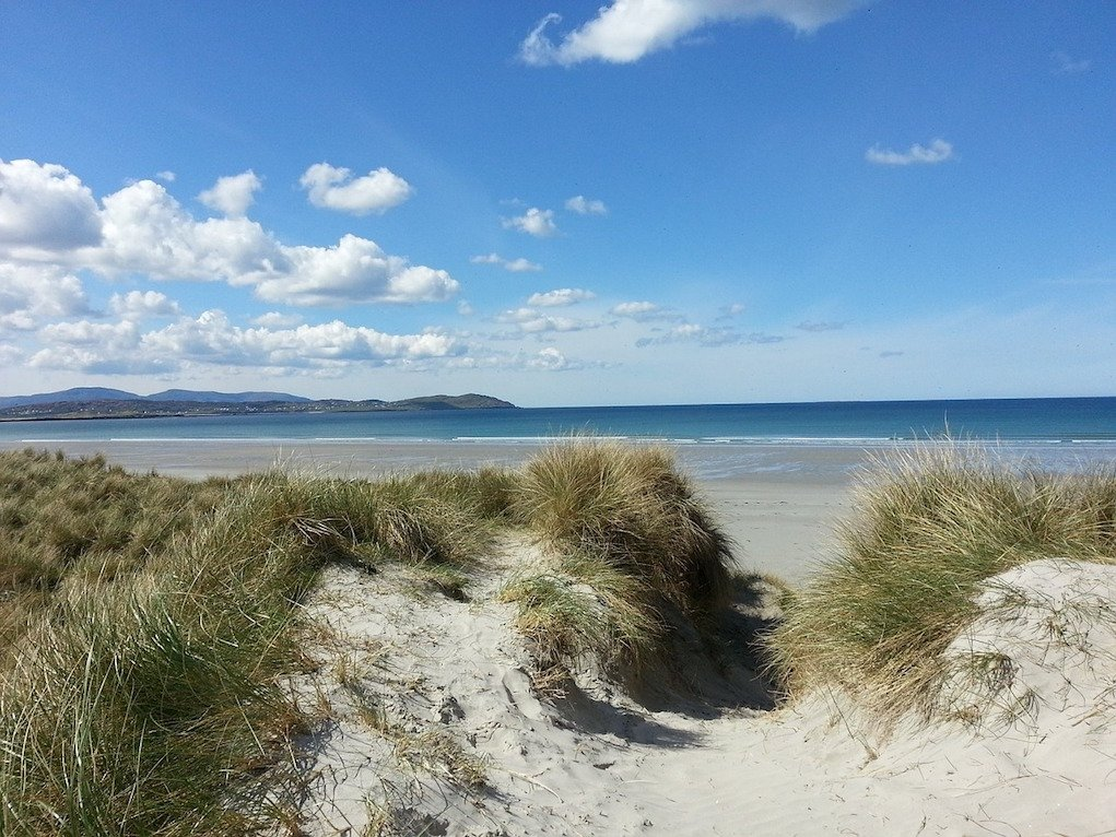 beach for winter walks for families in Donegal