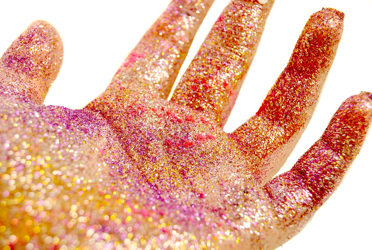 Image result for glitter on hand