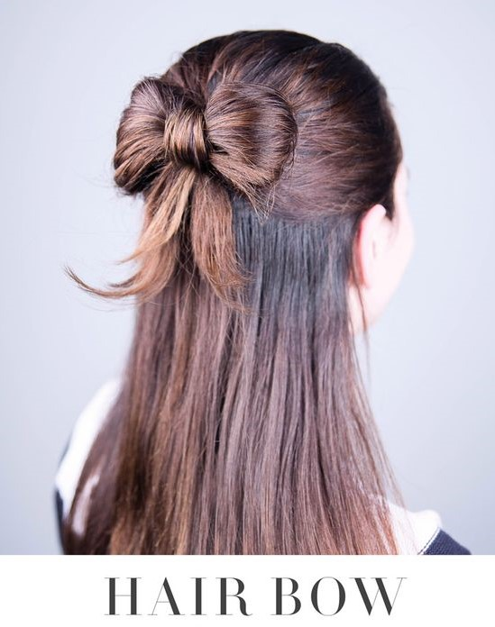 This Is A Stylish Hair Bow Style That We Found On Pinterest Where Youll See Step By Instructions How To Create Lovely Hairstyle