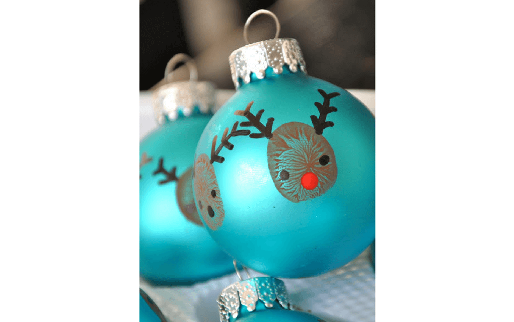 Reindeer baubles for preschooler Christmas crafts