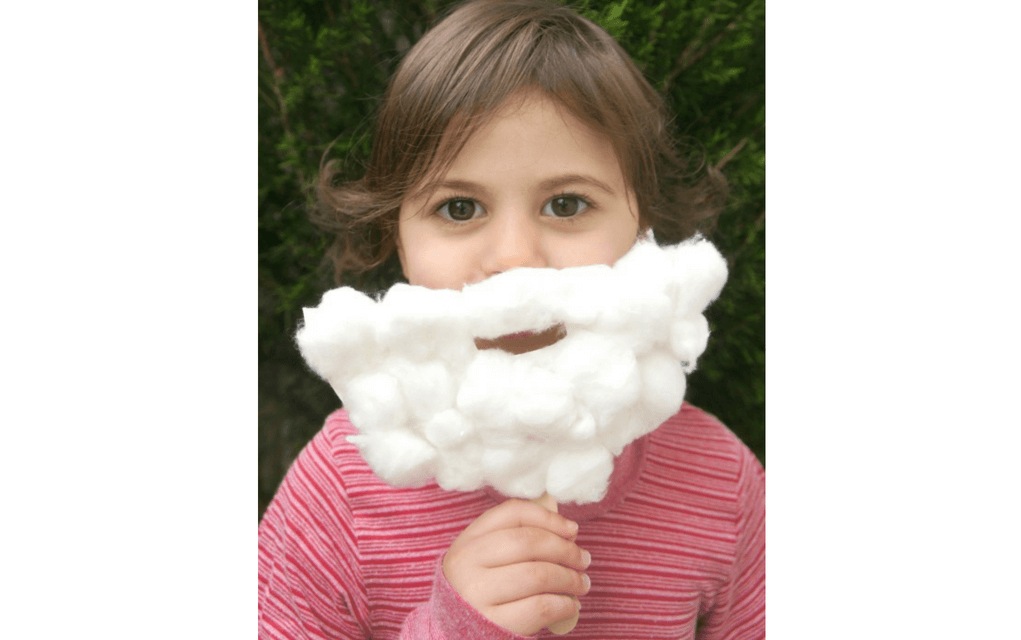 Santa beard for preschooler Christmas crafts