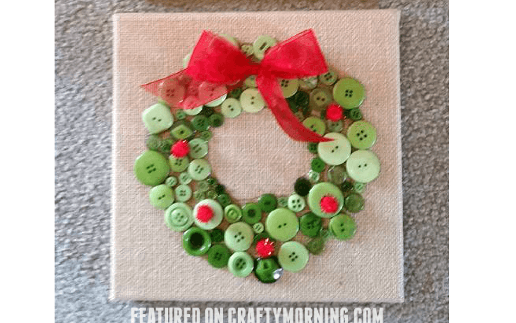 Bead wreath for preschooler Christmas crafts