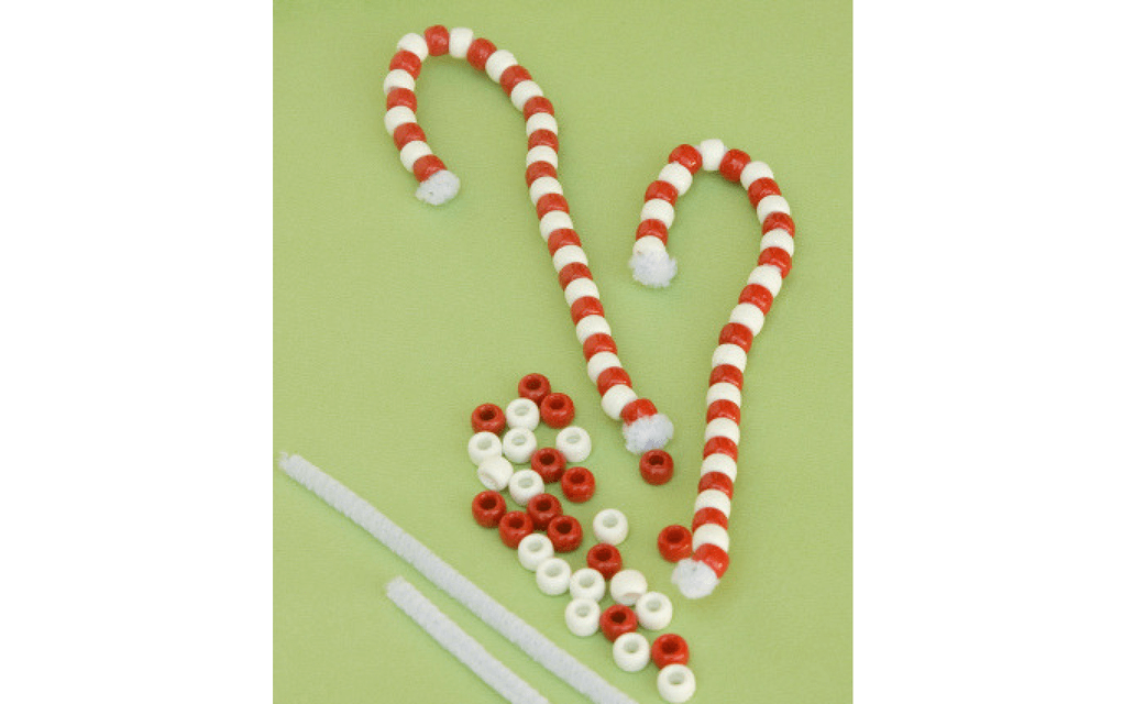Candy cane ornaments for preschooler Christmas crafts