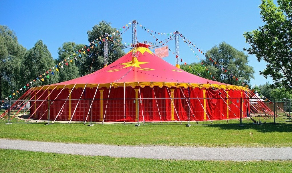 Circus tent unusual party ideas and venues