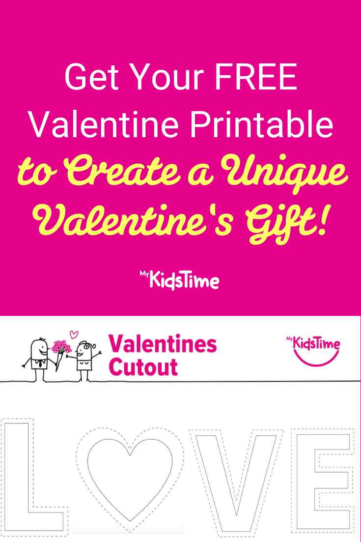 FREE Valentine Printable to Create a Unique Valentine Gift - Mykidstime
