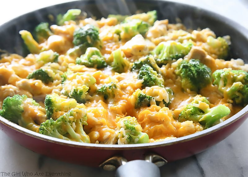 broccoli cheese rice
