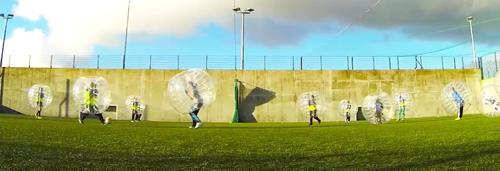 bubble soccer astrobay galway unusual parties for kids