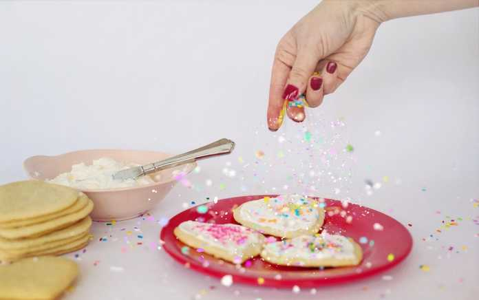 valentine cookie recipes sprinkles