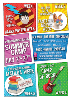 DLR Mill Theatre Summer Camps 2018