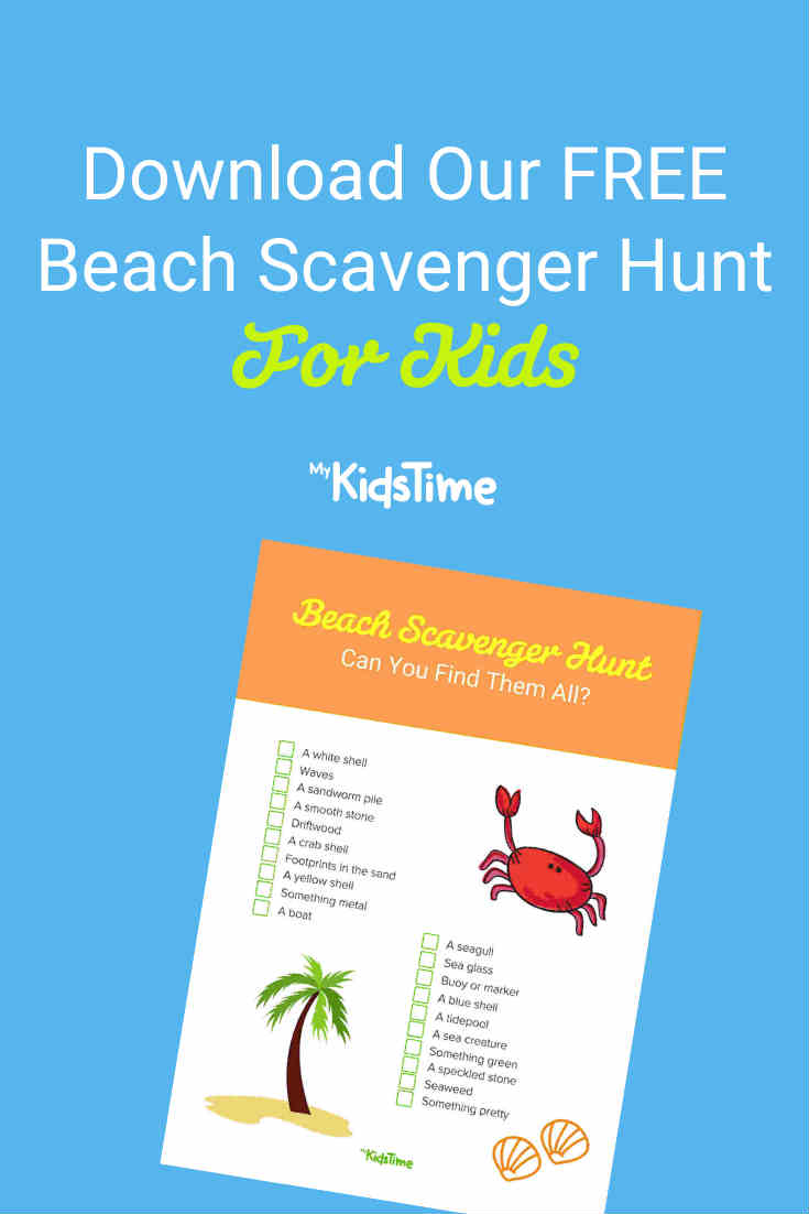 Download Our FREE Beach Scavenger Hunt for Kids - Mykidstime