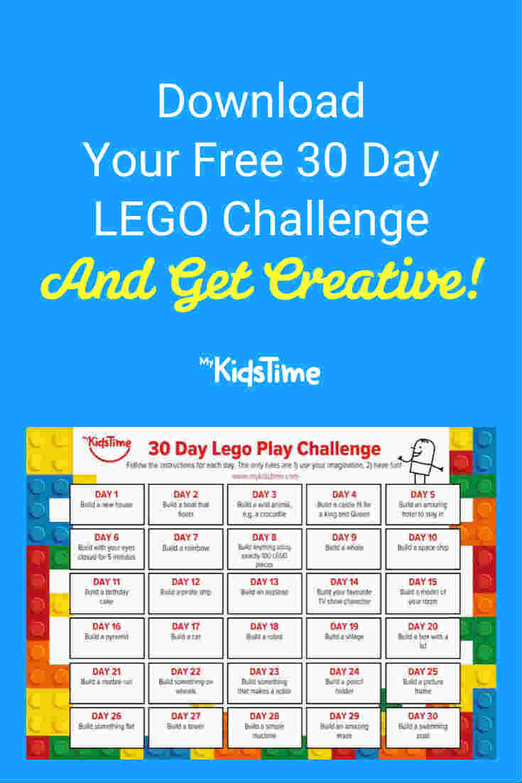 Download Your FREE 30 Day LEGO Challenge For Some Creative Fun! - Mykidstime