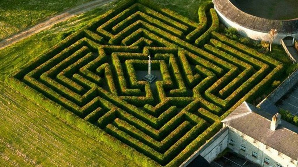 Maze at Russborough House Harry Potter Experience mazes in Ireland