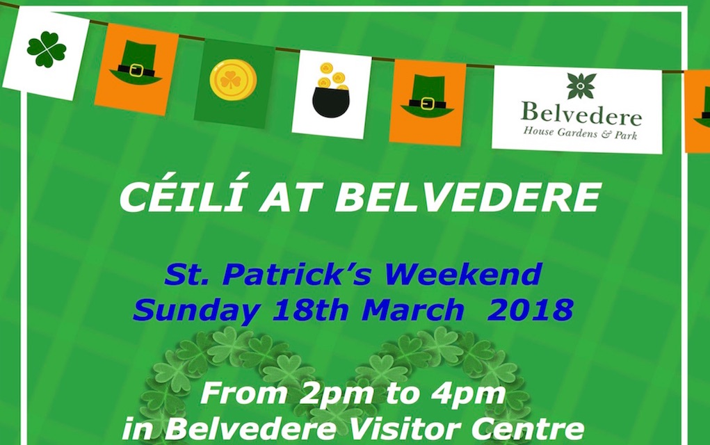 belvedere house st patrick's Day