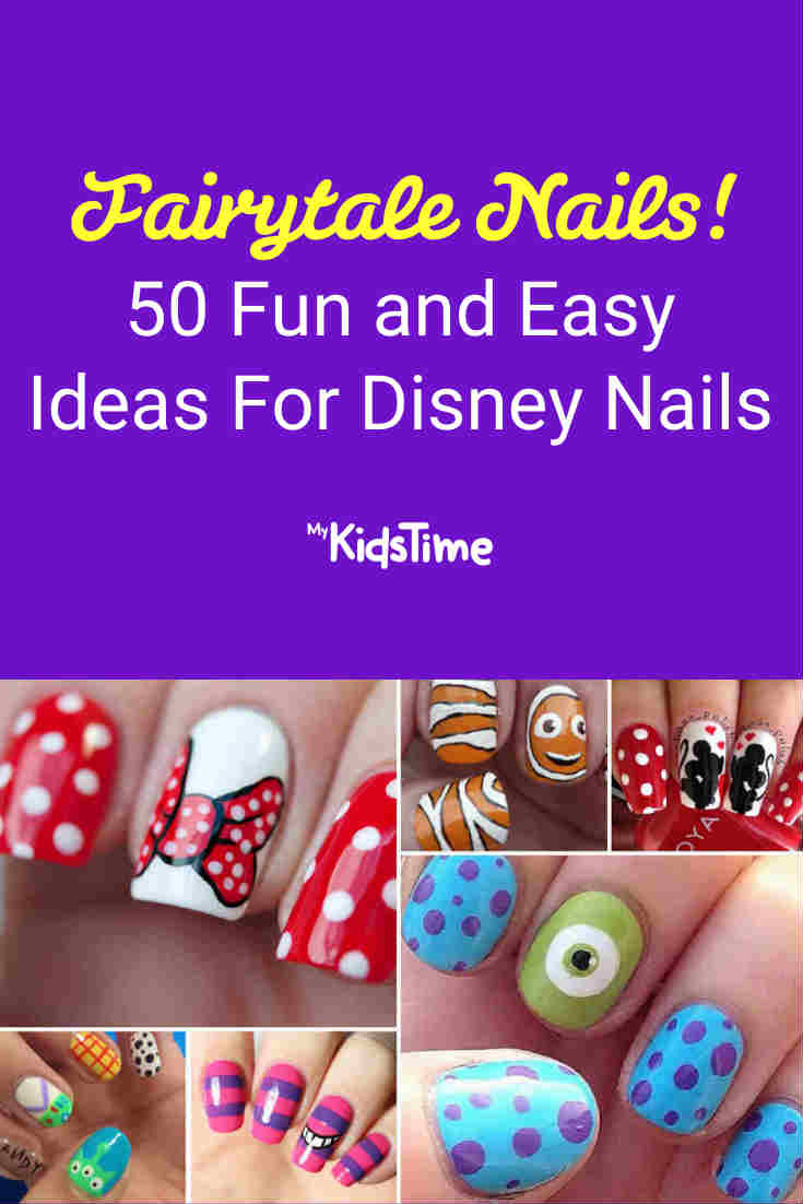 Create a Fairytale Look With 50 Fun and Easy Ideas For Disney Nails - Mykidstime