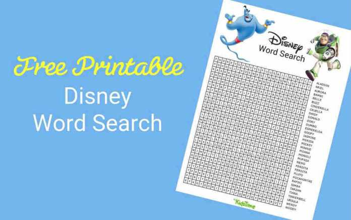 Download Your Free Disney Word Search - Mykidstime