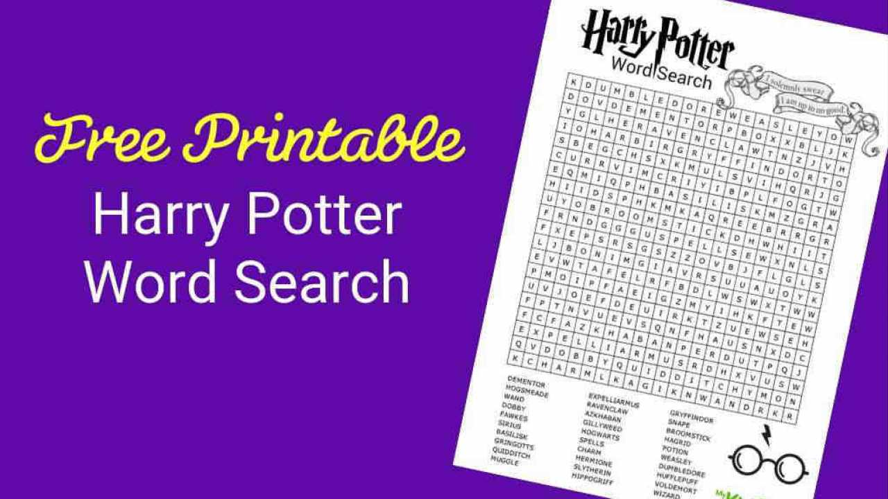 Have Some Magical Fun With Your FREE Harry Potter Word Search