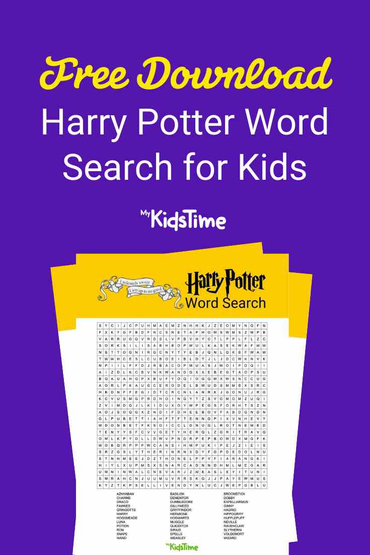 Harry Potter word search - Mykidstime