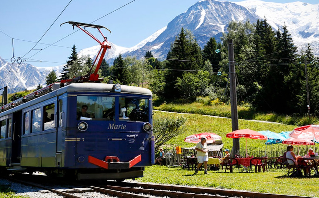 Les Houches tram to Mont Blanc Family Resorts France