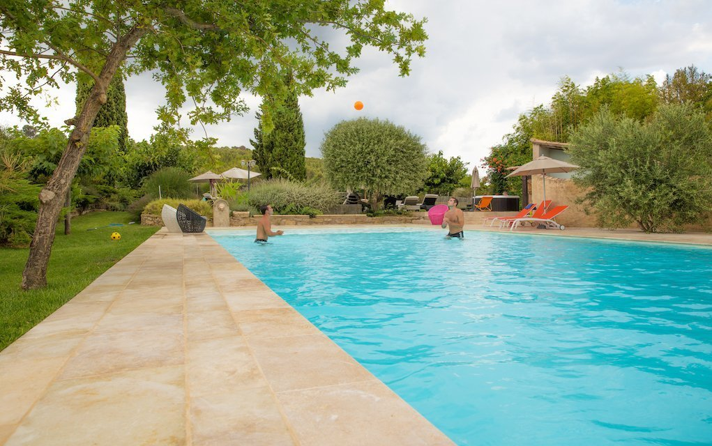 swimming pool at Mas de Thau family resorts in France