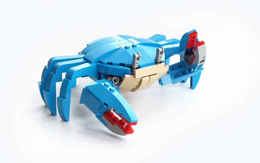 Lego instructions how to build a crab