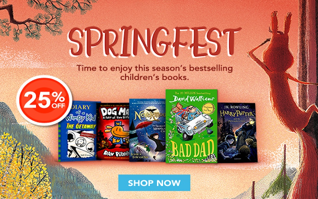 Eason Springfest book ideas for kids and teens