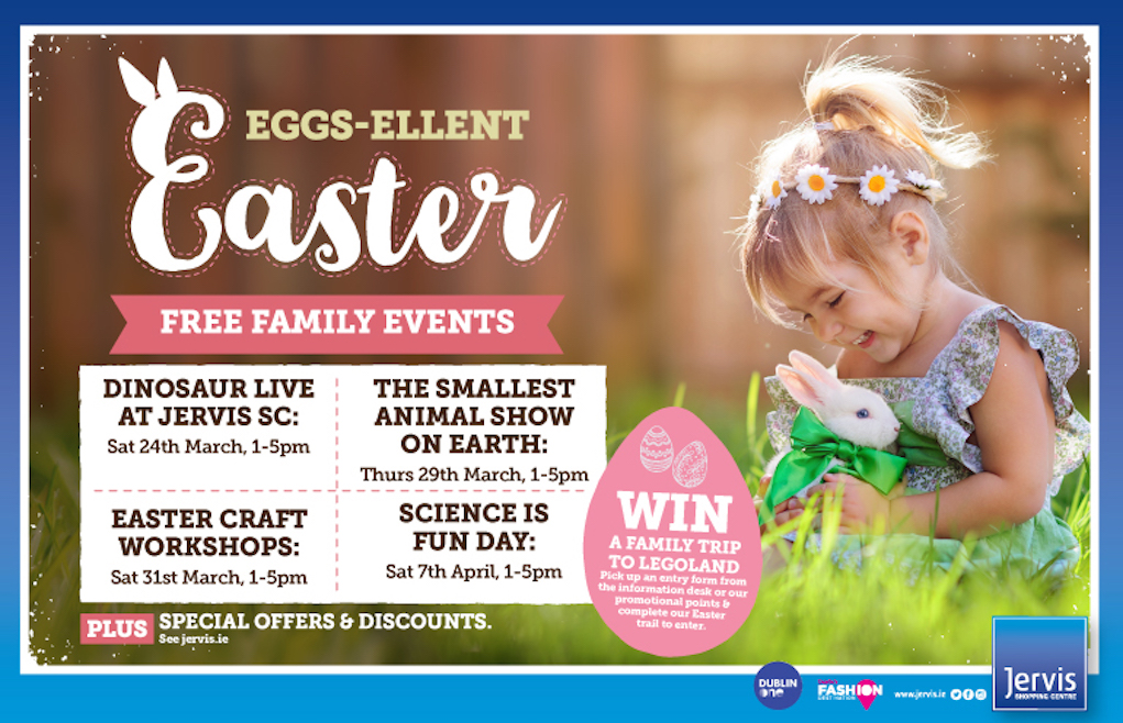 Free Easter Events at Jervis Shopping Centre