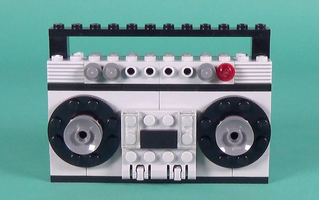 Lego instructions retro cassette player