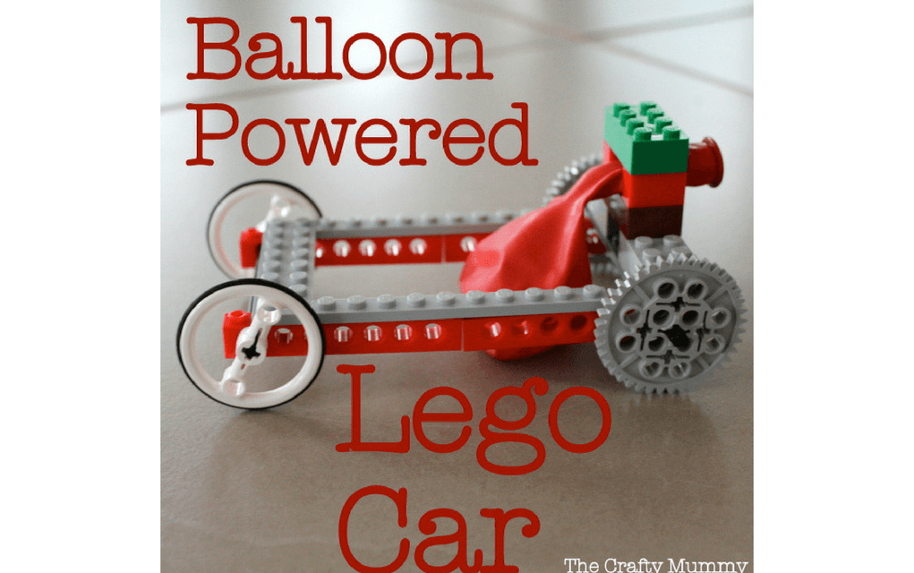 Lego instructions how to build a balloon powered Lego car