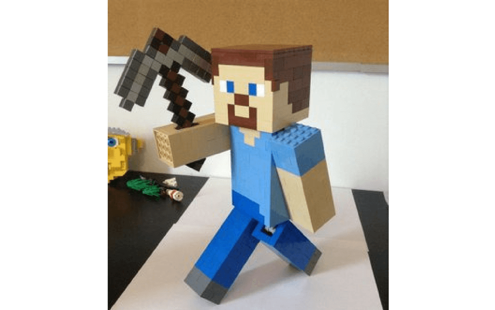 Lego instructions for building Minecraft Steve