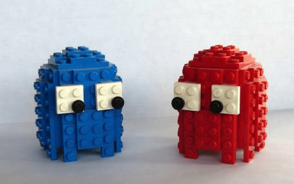 Lego instructions how to build 3d Pacman ghosts