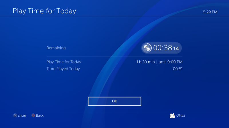 ps4 time settings