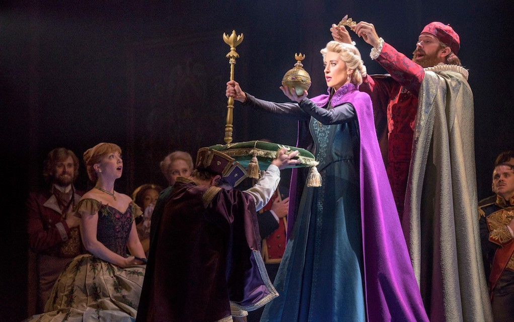 Frozen Broadway production shot of Elsa